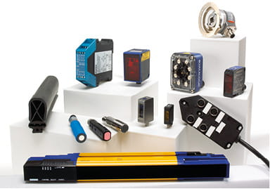 Group shot of various products from Sensors and Safety business area