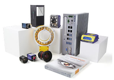 Group shot of various products from the Machine Vision and Code Reading business area