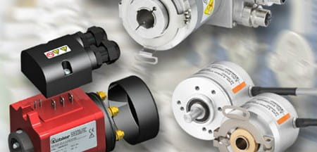 Kubler encoders and slip rings