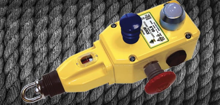 IDEM rope pull switch with mushroom head emergency stop buttons
