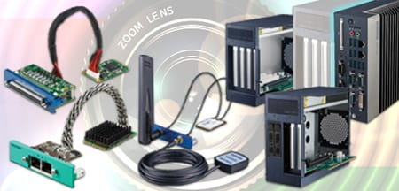 Advantech range of products, industrial PCs, frame grabbers and cables