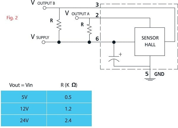 connection diagram for 319H hall sensor motor