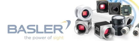 Range of Basler Machine Vision cameras, cables, lenses and frame grabbers