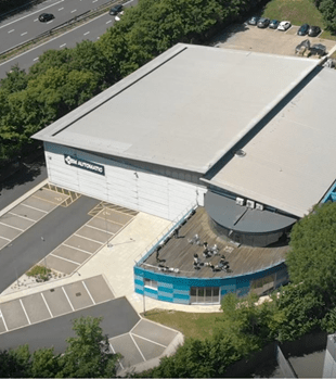 Aerial shot of OEM Automatic UK Building