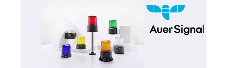 Range of Auer R series beacons with different lens colours