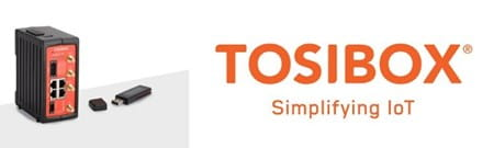 Tosibox lock 500 and key and Tosibox logo