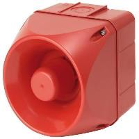 Auer sounder, cube shaped and red in colour
