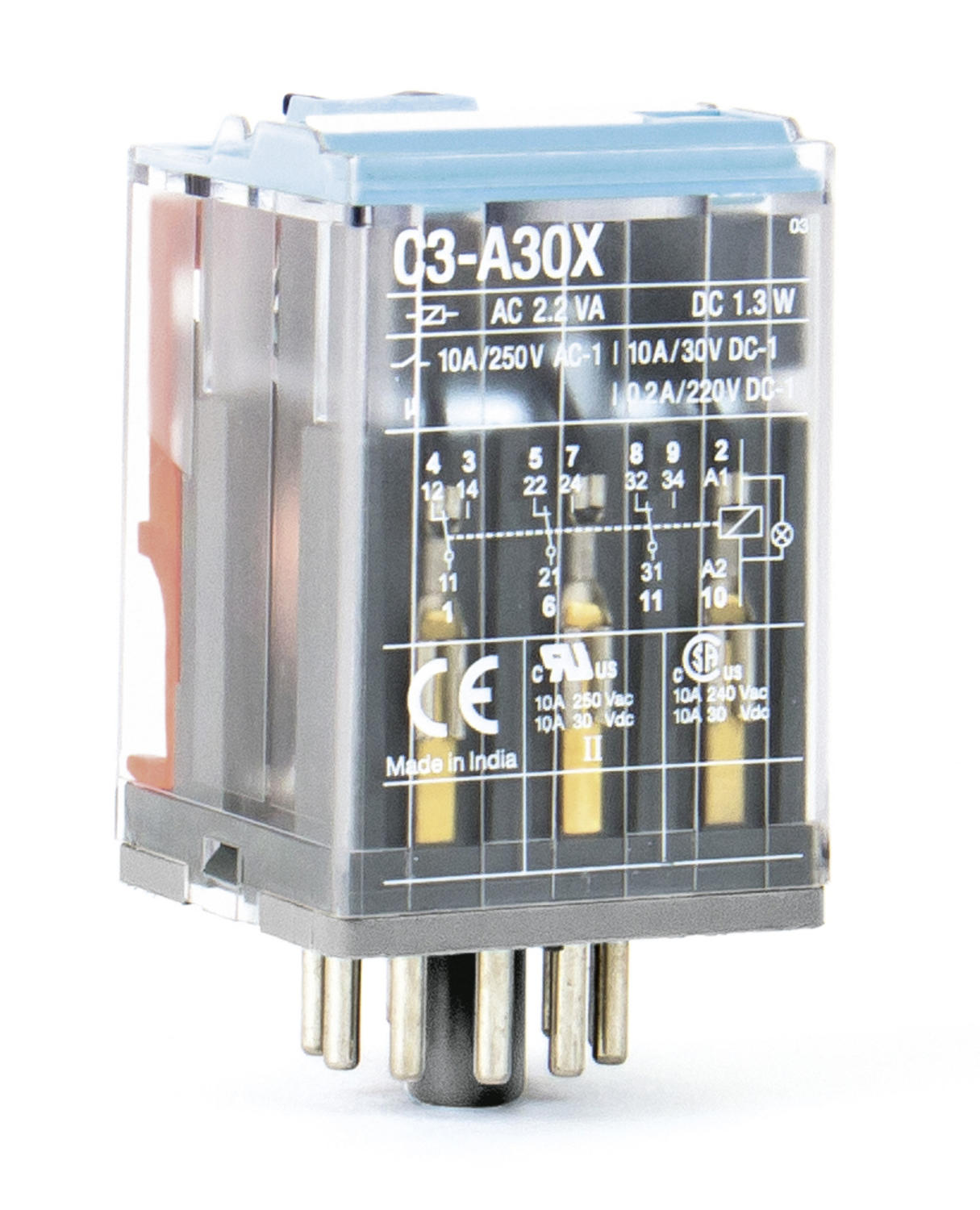 C3 industrial relay 3-pole 10 A C3-A30X24A - OEM Automatic (UK)