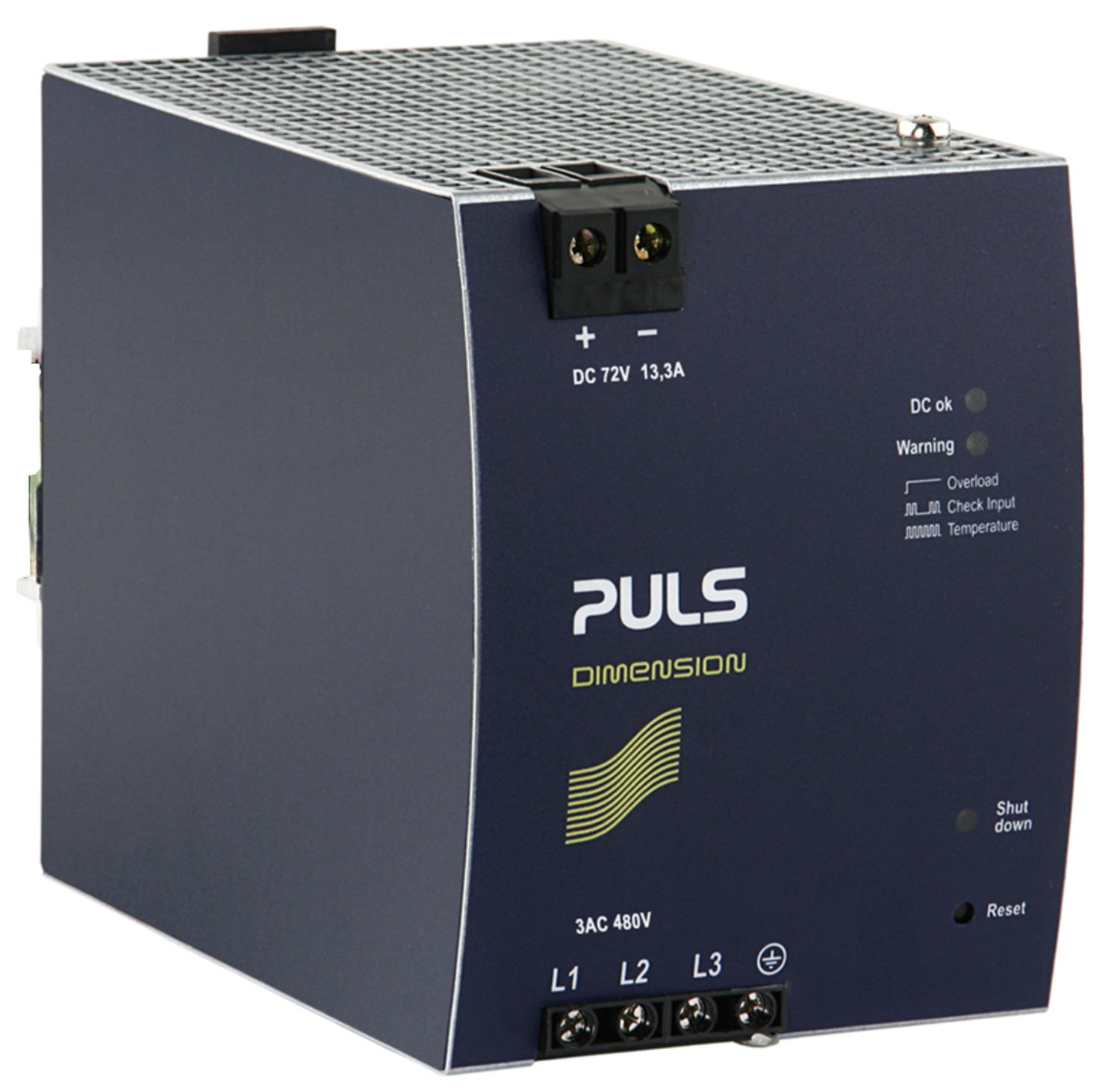 Power supply 3-phase, 72 V dc Dimension X Series