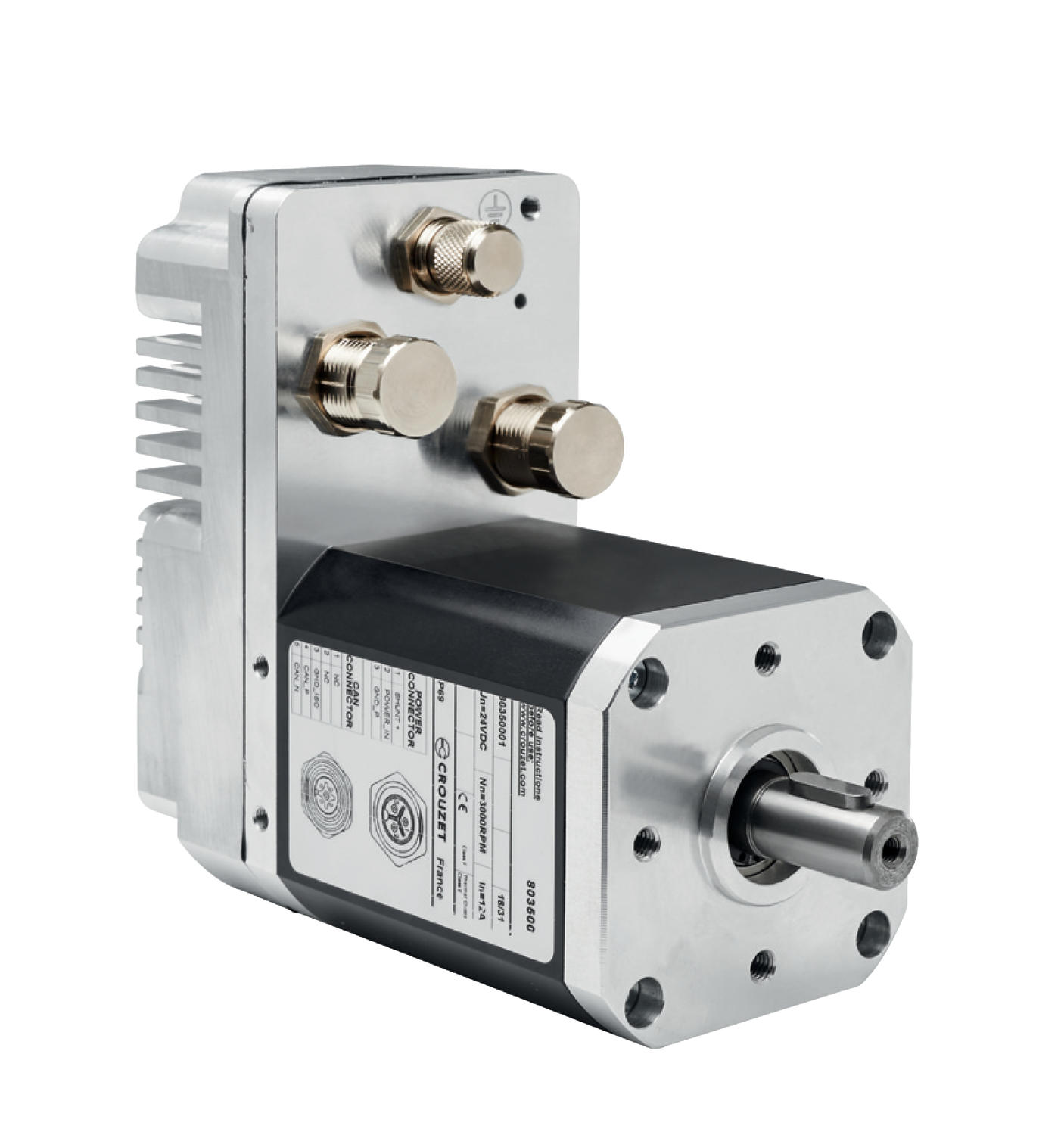 BLDC SQ75 motor with integrated SMi22 CANopen drive