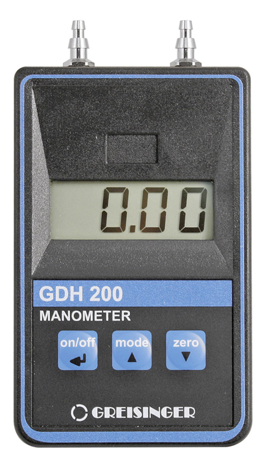 Manometer for Over/Under Pressure or Pressure Difference