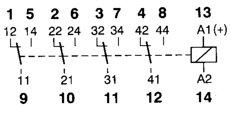 4-pole miniature relay  5 a