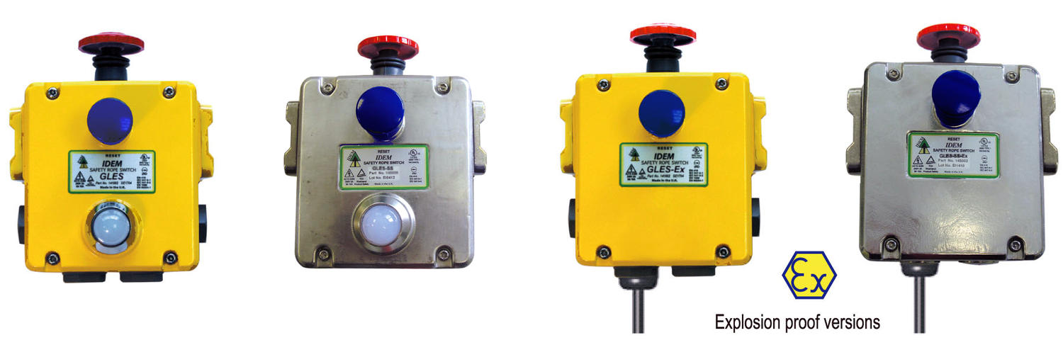 Emergency stop (E-Stop) switches - GLES & GLES-SS