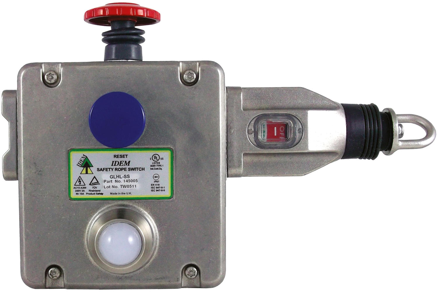 Rope Pull switch GLHL-SS & GLHR-SS stainless steel