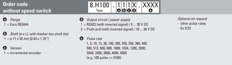 Incremental encoder, Sendix H100 SERIE H100 - OEM Automatic (UK)