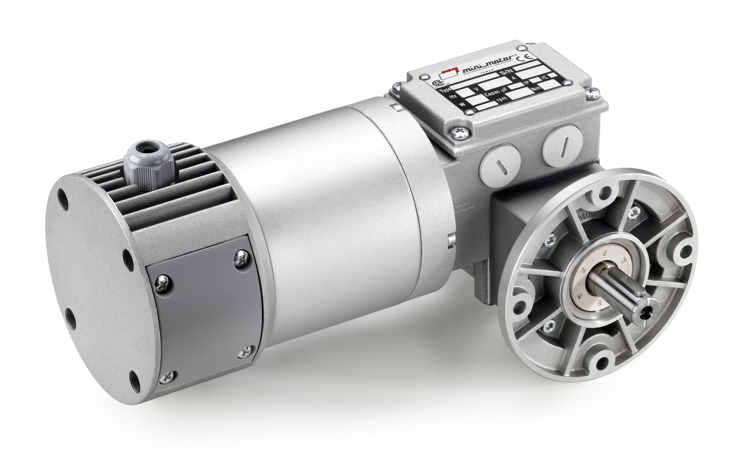 MCCE worm gear motor with planetary reduction