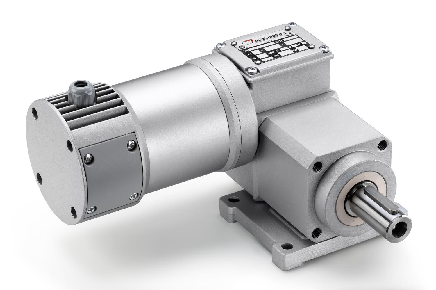 PCCE worm gear motor with planetary reduction