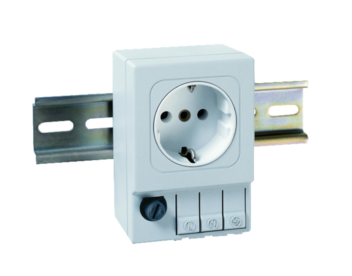 Outlet with bayonet coupling