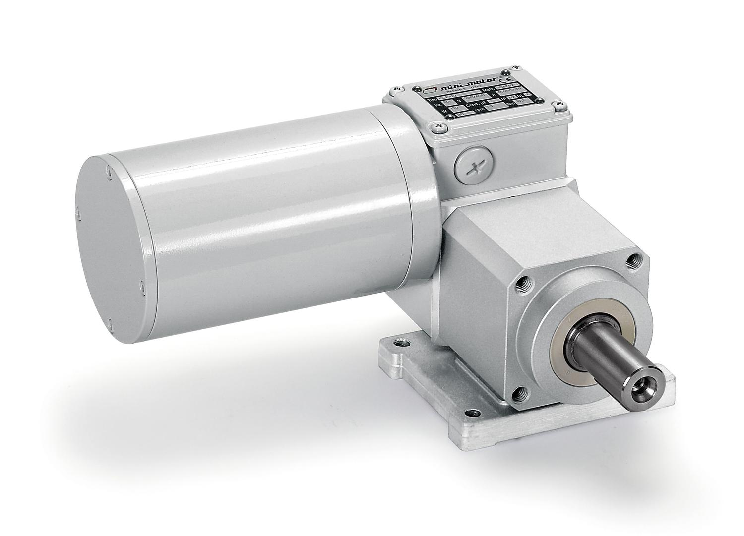 PCEF worm geared motor with further planetary gear