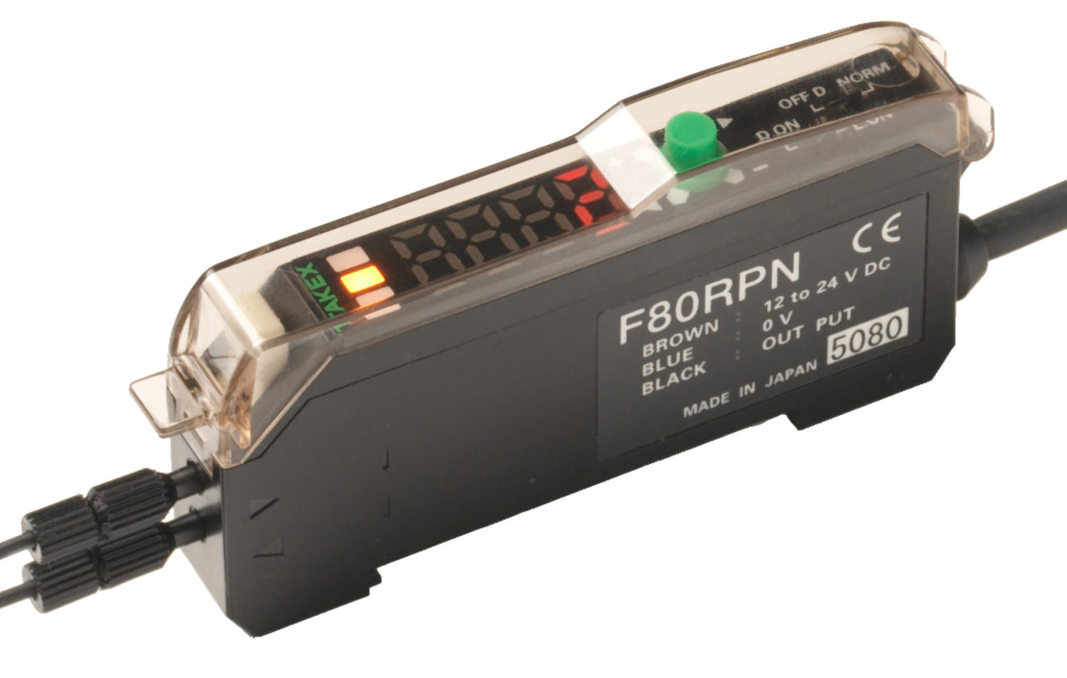 F80 Fibre Amplifier with large digital display and long distances