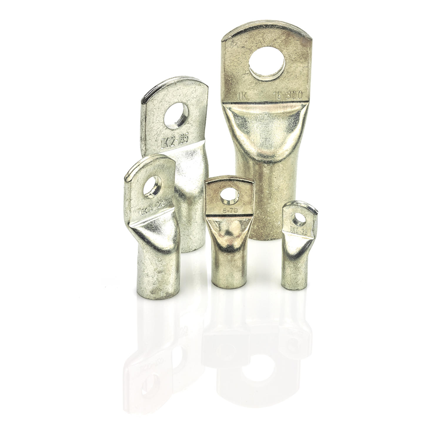 Uninsulated tube cable lugs - RKS